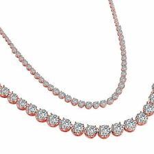 Rose Gold 42ct Zenith Necklace with Cubic Zirconia