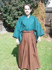 Custom Made Japanese Samurai Hakama Pants Trousers Martial Arts Kendo