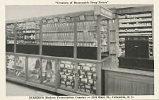 Columbia SC * Eckerd's Modern Drug Store Prescription Counter Pharmacy 1940s