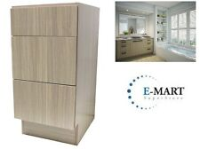 "12"" European Style 3 Drawer Bathroom Vanity Birch Wood Pattern in Plywood"