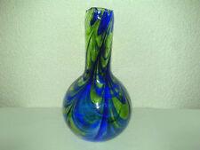 Glas Vase Glasvase Art Deco ?? Grün Blau Hersteller/Alter unbekannt H: 27,5 cm *