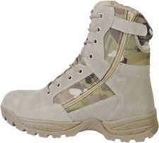 Tactical Recon Side Zip Army Patrol Combat Boots Police Security Leather/Suede