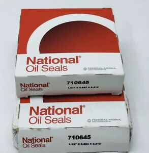 LOT OF 2 NATIONAL OIL SEALS 710645 INPUT SHAFT SEAL