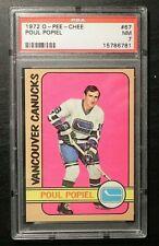 1972-73 72/73 O-Pee-Chee #67 Poul Popiel Vancouver Canucks PSA 7 NM