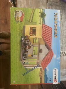 Schleich 42334 Barn With Animals And Accessories Farm World