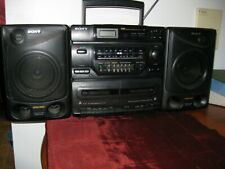 Sony Cfd-560 Am/Fm Cd Dual Cassette Boombox Stereo W/ Detachable Speakers