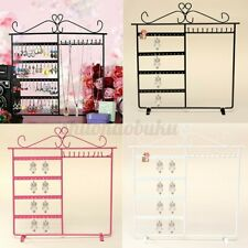 Jewelry Necklace Display Stand Rack Earring 48 Hole Holder Storage Organizer