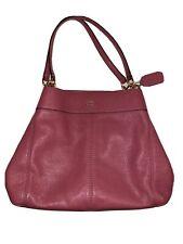 Coach Hallie Pebbled Leather Shoulder Bag Handbag IM/ROSE