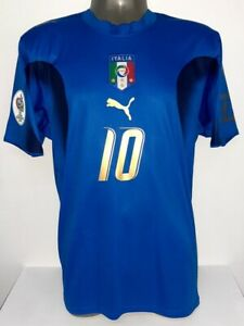 PUMA ITALIA ITALY WC2006 CHAMPION HOME TOTTI S ORIGINAL JERSEY SHIRT