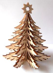 Tannenbaum Aufsteller Holz Weihnachten Dekoration 4 Teile zum Stecken 10cm