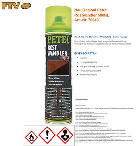 Petec Rostwandler Spray - 500 ml 70040 Rostschutz Rostumwandler Rostentferner