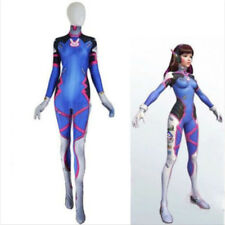 Overwatch OW Game D. Va DVA Costume Halloween Zentai Suit Jumpsuit Cosplay XL