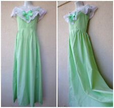 Vintage 70s Prom DRESS Party Gown Swiss Dot Bo Peep Civil War Theater Costume S