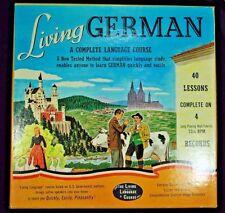VTG: GERMAN LIVING LANGUAGE COURSE 1956 4 RECORD SET 33 1/3 RPM EDUCATIONAL