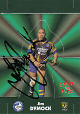 1997 CRASH THE PACK POP UP SIGNED TRADING CARD - #15 JIM DYMOCK PARRAMATTA EELS