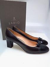 LARIO COMO 1898 Designer Damenschuhe LA D0710 Brun 2I Nero Braun Gr. 39,5 NEU