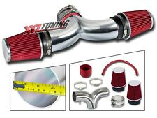 "3.5"" RED Dual Twin Air Intake Induction Kit + Filter For 97-00 Corvette 5.7L V8"