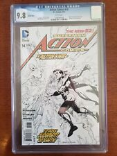 Action Comics #14 - CGC 9.8 White Pages, Rags Morales Sketch Cover, DC 2013.