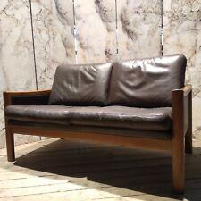 Hans Olsen / Juul Kirstensen  Loveseat Mid-Century Leder Sofa