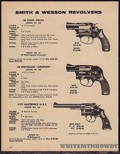 1977 SMITH  WESSON 36 Chiefs .38 Special, 38 Bodyguard, 40 K-22  REVOLVER AD