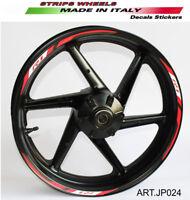 Adesivi ruote per moto Yamaha R1 Rosso