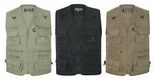Multi Pocket Utility Vest Waistcoat Gilet Mens Fishing Hunting Shooting New 3XL