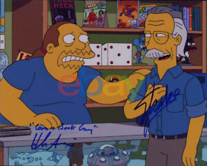 Stan Lee & Hank Azaria The Simpsons Signed 8x10 Photo AUTO Autographed reprint