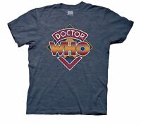 Doctor Who Vintage Logo Bbc Licensed Adult T-Shirt