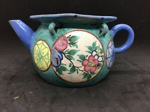 18th/19th Century Enameled Yixing Teapot