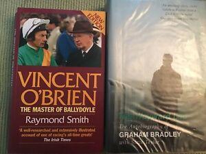HORSE RACING - 2 BOOKS - VINCENT O'BRIEN + GRAHAM BRADLEY