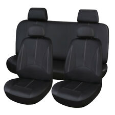 Pu Leather Black Car Seat Cover Full Set Front Rear Seat Cushion Mat Protector Fits 2007 Sportage