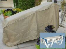 Premium Tight Weave Patio Stacking Chaise Lounge Cover Fits 4-8 Chairs Taupe