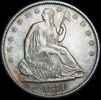 1871-S Seated Liberty Half Dollar  ---- Gem BU++ Coin  ---- #K631