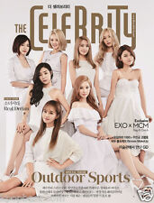 The Celebrity MAGAZINE 2015 July SNSD Girl's Generation Cover & Photos & EXO GD