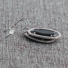Kendra Scott Dani Silver Drop Earrings In Black w Dust Bag