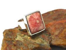 RHODOCHROSITE  Sterling  Silver  925  Pink  Gemstone  RING -  K  -  Hallmarked