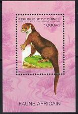 Guinea SC1285 Souv.Sht. Clawless Otter MNH1995
