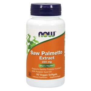 NOW Foods Saw Palmetto Extract 320 mg - 90 Veggie Softgels FREE SHIPPING
