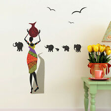 57141 | Wall Stickers Lady with Pitcher and Elephants