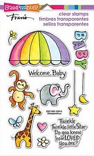 Baby Mobile Animals, Clear Unmounted Rubber Stamp Set STAMPENDOUS - NEW, SSC1242
