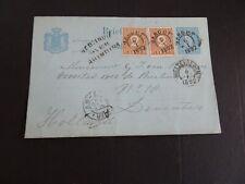 Ned Indië briefkaart G 10 GAROET - Deventer 1892 bijfr. 2 x 2 ct  over Brindisi