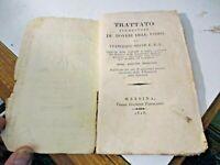 TRATTATO ELEMENTARE DE' DOVERI DELL'UOMO di F. SOAVE - MESSINA 1828