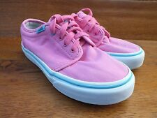 Vans 106 Vulcanised Pink Canvas Casual Trainers  Shoes  UK 1.5 /  EU 32.5