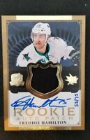 2013-14 UD THE CUP FREDDIE HAMILTON ROOKIE AUTO PATCH #ED 53/75