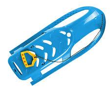 Ondis24 Kinderschlitten Rennrodel Bob Bullet mit Metallkufen Zugseil blau 102 cm