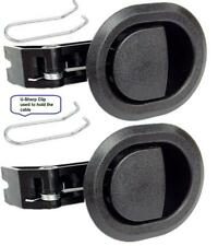 2x Recliner Replacement Parts @ Small Oval Black Plastic Pull Recliner Handle,