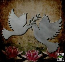 Peace Doves Olive Branch Love Metal Wall Art Dove Decor Sign Home Beach House