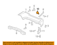 HONDA OEM 2011 Fit REAR BUMPER-Tow Bracket Cover 71504TK6A00ZK