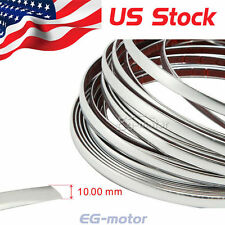 25ft 10mm Chrome Silver Moulding Trim STRIP Grille Bumper Tape Car Protector