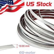 25ft 10mm Chrome Silver Moulding Trim Strip Grille Bumper Tape Car Protector